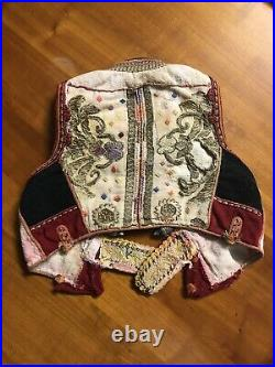 Antique 19th Folk Vest Ottoman Gold Thread Embroidered, Silver Buttons, Albanian