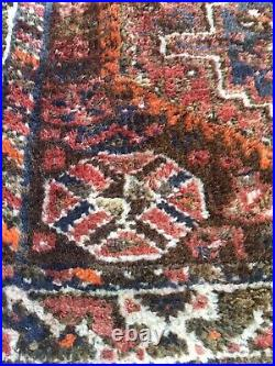 Antique 4x 3' Balouchi Rug Hand Knotted Middle Eastern Rug