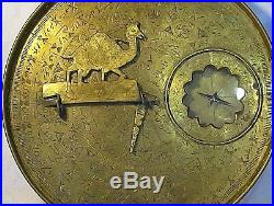 Antique Ancient Arabic Persian Bedouin Astrolabe. Sundial Signed. Circa Early1800