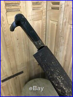 Antique Arabic Ottoman Turkish Silver Yatagan Empire Sword Sabre Islamic Damas