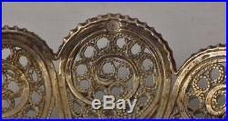 Antique Armenian Silver Filigree Small Tray 19th Century Turkish Ottoman Empire