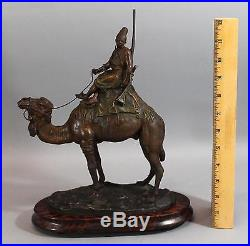 Antique BARYE North African Arab & Camel Marocain Orientalist Spelter Sculpture