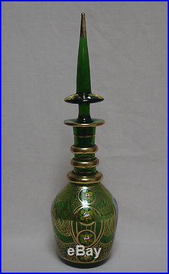 Antique Bohemian Glass (Persian, Qajar export market) Portrait DECANTER