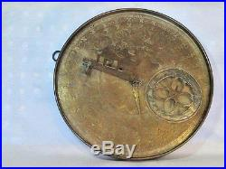 Antique Brass Persian Bedouin Astrolabe. Signed