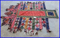 Antique Ceremonial Parade Uzbek or Afghani Horse Blanket 80long colorful cotton