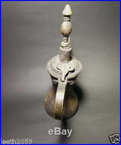 Antique Dallah coffee pot Bedouin Middle East handmade copper rare old Shtaraw