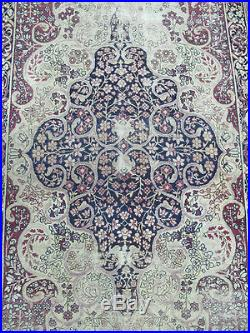 Antique Early 1900's Isfahan Persian Floral Hand Woven Rug Carpet 7' x 4'5 yqz