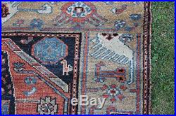 Antique, Early 20-thC Middle Eastern Hand Woven Camel Hair Carpet Rug, NR