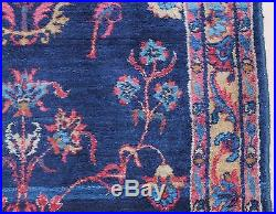 Antique Early 20thC Persian Hand Woven, Blue Sarouk, Runner Rug Carpet