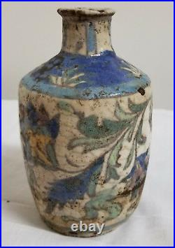 Antique Early Iznik Pottery Painted Jug Vase Wine Container Excavated