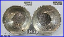 Antique Egyptian Cairo Ware Hallmarked Solid Silver Bowls