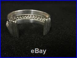 Antique Egyptian Siwa Bedouin Silver Cuff Bracelet 1 5/8 Wide