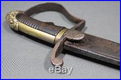 Antique Ethiopian sword with kilij blade Ethiopian empire, Abyssinia, 19th