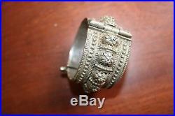 Antique Ethnic Silver Bracelet Cuff Yemen Filigree Bawsani