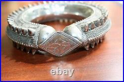 Antique Ethnic Silver Bracelet Yemen Rashaida Bedouin Tribal