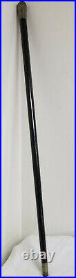 Antique Fine Persian Middle Eastern Silver Engraved Captain's Cane Walking Stick
