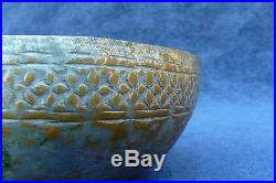 Antique Hand Made Tinned Copper Bowl Persian Middle Eastern