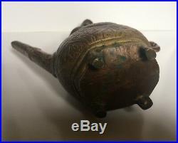 Antique Indian Mughal Bronze Ewer