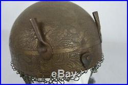 Antique Indo Persian Islamic Ottoman Kulah Khud Armor Helmet Phoenix Etched