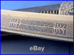 Antique Indo Persian Turkish Yataghan Sword 19th Century