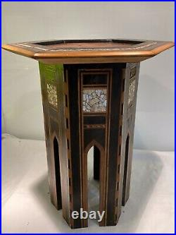 Antique Inlaid Islamic Syrian Side Table