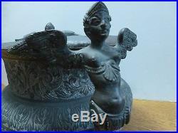 Antique Islamic Cairoware Persian Bukhara Arabic Handled Brass Urn