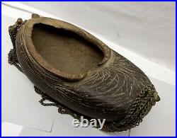 Antique Islamic Coco de Mer Sufi Dervish Kashkul Beggars Bowl Seed Nut Auth