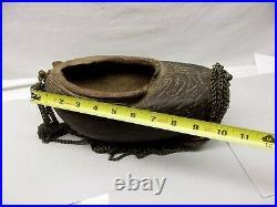 Antique Islamic Coco de Mer Sufi Dervish Kashkul Beggars Bowl Seed Nut Auth