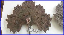 Antique Islamic Copper Candle Stand Indian Kashmire RARE