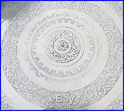 Antique Islamic Folding Side Table Brass Tray
