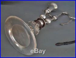 Antique Islamic Indo Persian Pipe Huqqa Hooka Nargile Shisha Hookah Solid Silver