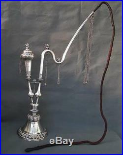 Antique Islamic Indo Persian Pipe Huqqa Hookah Solid Sterling Silver 2.14 kg