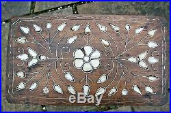 Antique Islamic Inlaid Pedestal Wooden Table