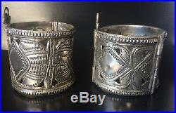 Antique Islamic Middle Eastern Cuff Bracelate X2