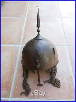 Antique Islamic Mughal Indo Persian Knight Helmet Kulah Khud