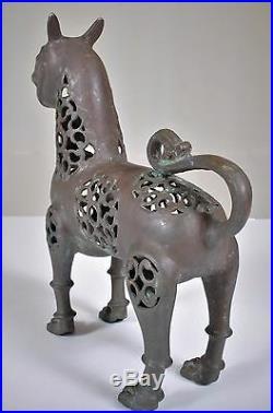Antique Islamic Muslim Arab bronze lion statue incense burner Khurasan 1200