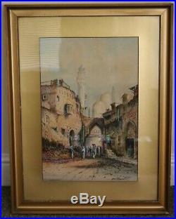 Antique Islamic Oriental Painting Baghdad Al-Kadhimiya Mosque