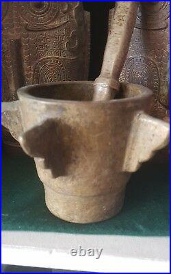 Antique Islamic Persian Bronze Mortar
