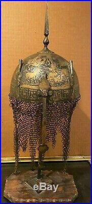 Antique Islamic Persian Helmet