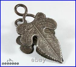 Antique Islamic Persian Qajar Koftgari Silver / Steel Paper Clip