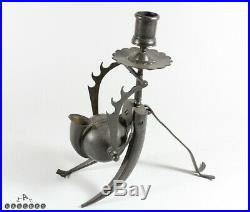Antique Islamic / Persian Steel Travelling Scribes Inkstand / Candlestick