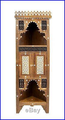 Antique Islamic Syrian Corner Cabinet