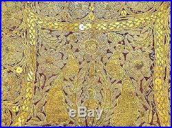 Antique Islamic Yelek Real Silver & Gold Metallic Thread Seed Pearls Small Size