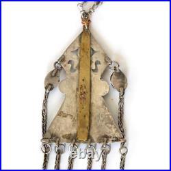Antique Islamic silver Pendant Turkmenistan Tribal Carnelian Kuchi Necklace