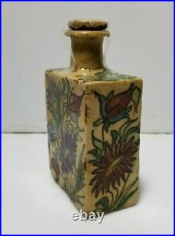 Antique Iznik Pottery Palestine Turkish Persian Jar Bottle 1700's
