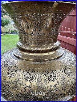 Antique LARGE rare Persian Islamic Qajar Safavid Eastern Mosque Lamp Lantern