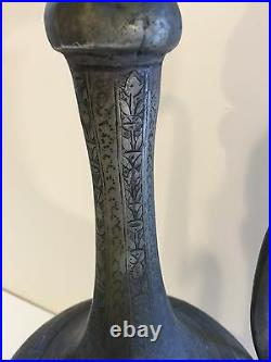 Antique Large Arabic Persian Middle Eastern Copper Islamic Pot withHandle, 18 T