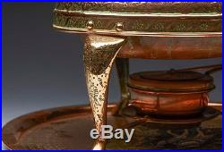 Antique Middle Eastern Chafing Dish & Stand Early 20th C