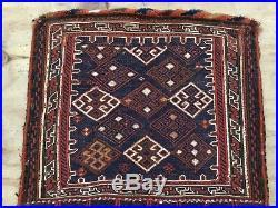 Antique Middle Eastern Flat Woven Saddle Bag Kilim