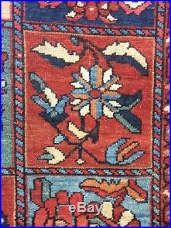 Antique Middle Eastern Hand Woven Garden Design Rug